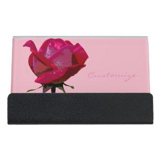 Support Carte De Visite rose rouge simple Thunder_Cove toute couleur