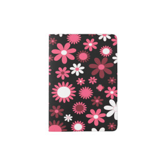 Support de passeport de flower power protège-passeport