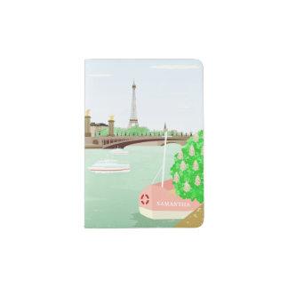 Support de passeport de ressort de Tour Eiffel de Protège-passeport