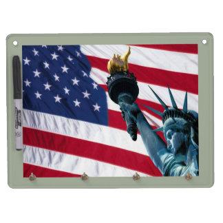 Support et marqueur de porte - clé des Etats-Unis Tableaux Effaçables Blancs