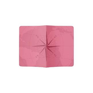 Support fait sur commande rouge-clair de passeport protège-passeport