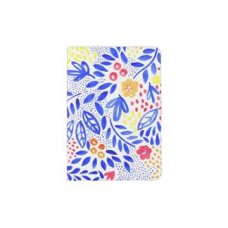 Support floral audacieux de passeport de belle protège-passeport