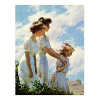 Sur la falaise par Charles Courtney Curran Carte Postale