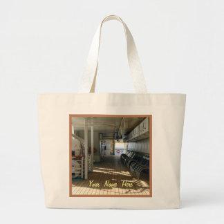 Sur la plate-forme du bateau de croisière sac en toile jumbo