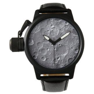 Surface de lune montres cadran