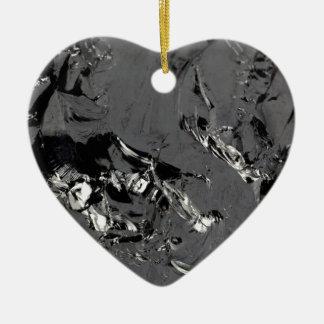 Surface des cristaux purs de silicium ornement cœur en céramique