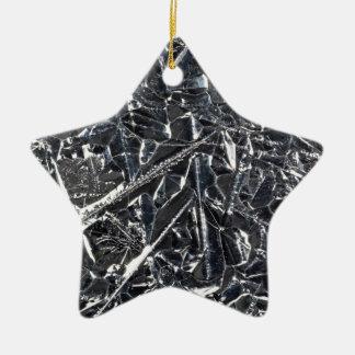 Surface des cristaux purs de silicium ornement étoile en céramique