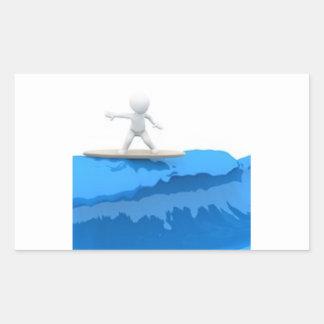 Surfer de bande dessinée - autocollant