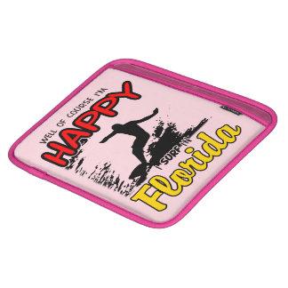 Surfer heureux la FLORIDE (noir) Housse iPad