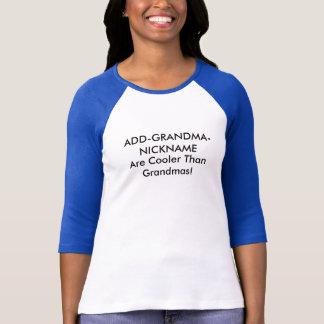 Surnom personnalisable de grand-mère t-shirt