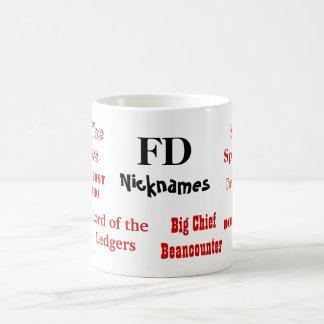Surnoms drôles de FD ! Directeur Mug de finances