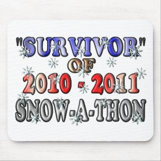 Survivant de 2010-2011Snow-A-Thon Tapis De Souris