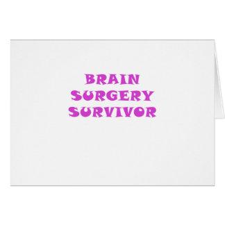 Survivant de chirurgie cérébrale carte de vœux