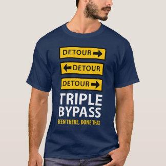 Survivant triple drôle de chirurgie cardiaque de t-shirt