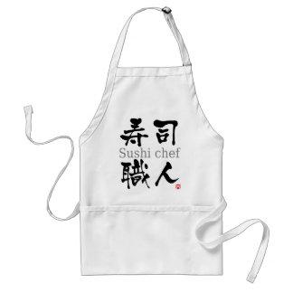 Sushi chef-kok-KANJI Standaard Schort