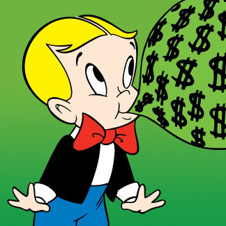 Richie Rich Blowing Bubble