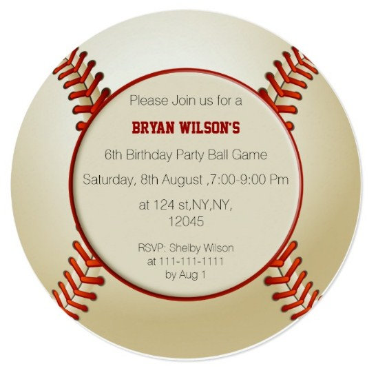 Sports Theme Party Invitations