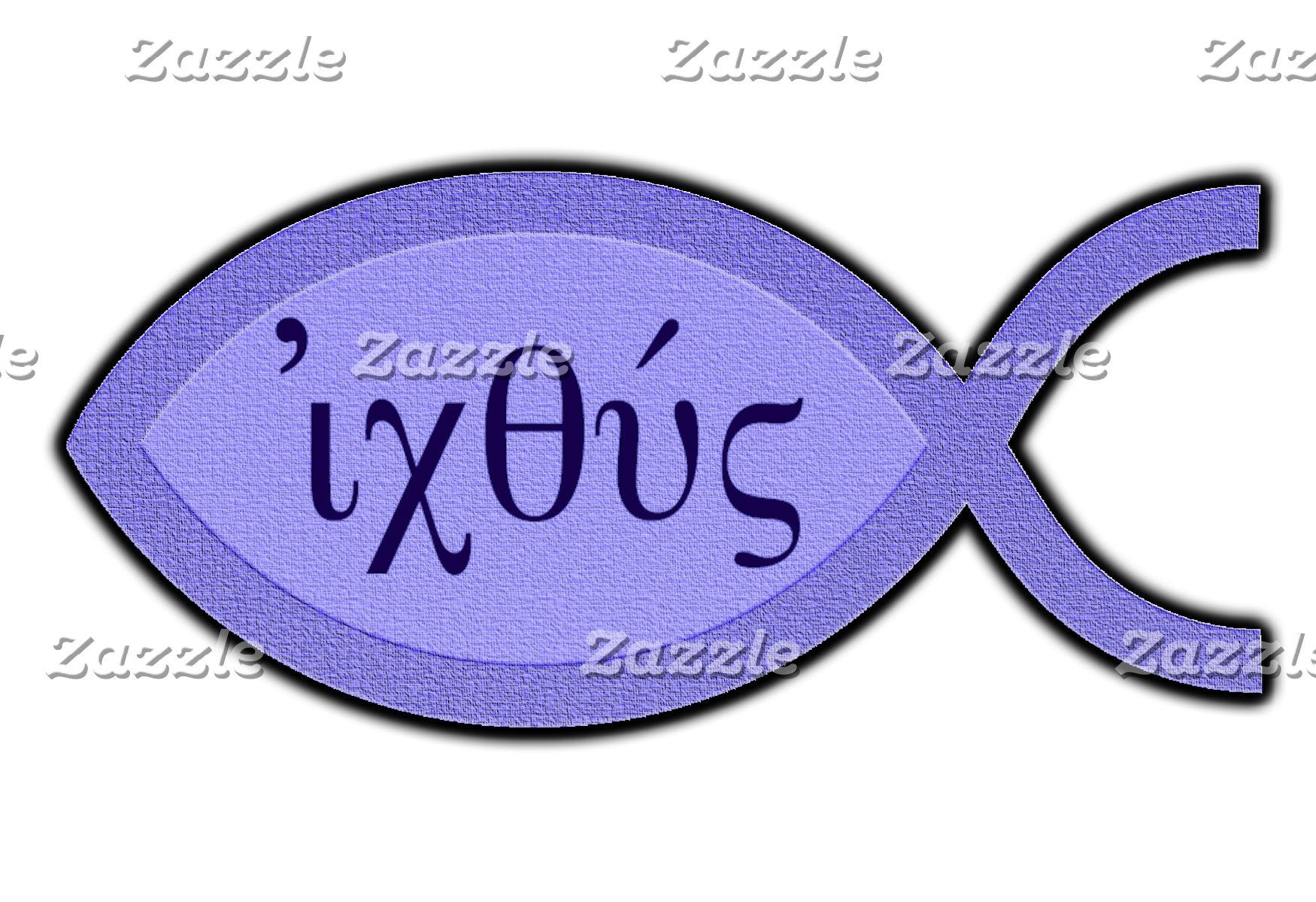 IXOYE Christian Fish - Parchment Effect