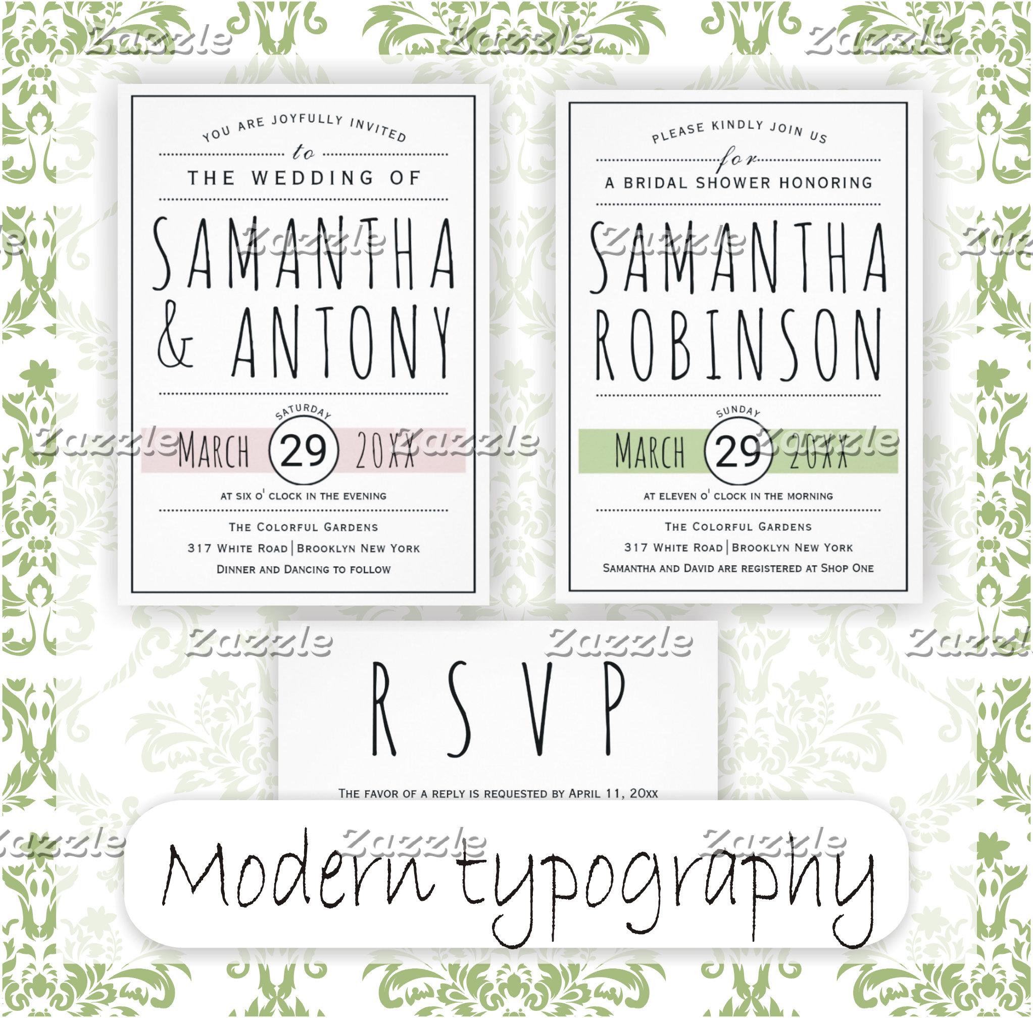 Modern typography