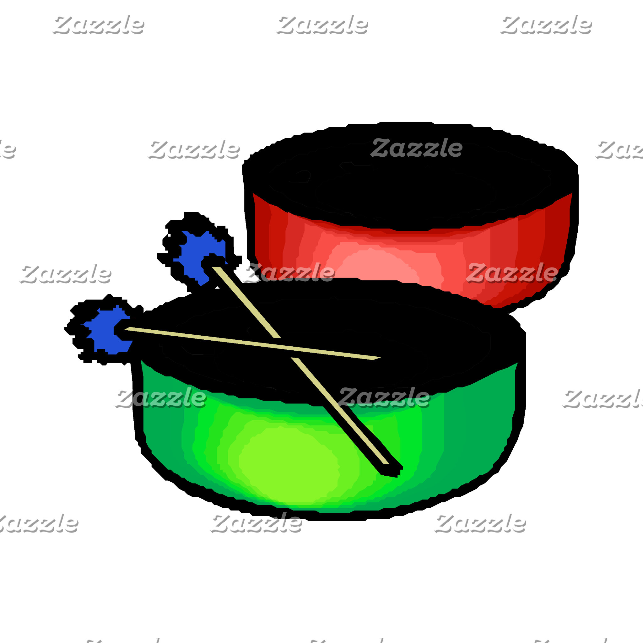pan black head drums with mallets music percussion