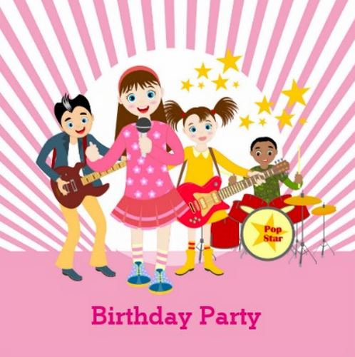 Pop Star Girl Birthday Party