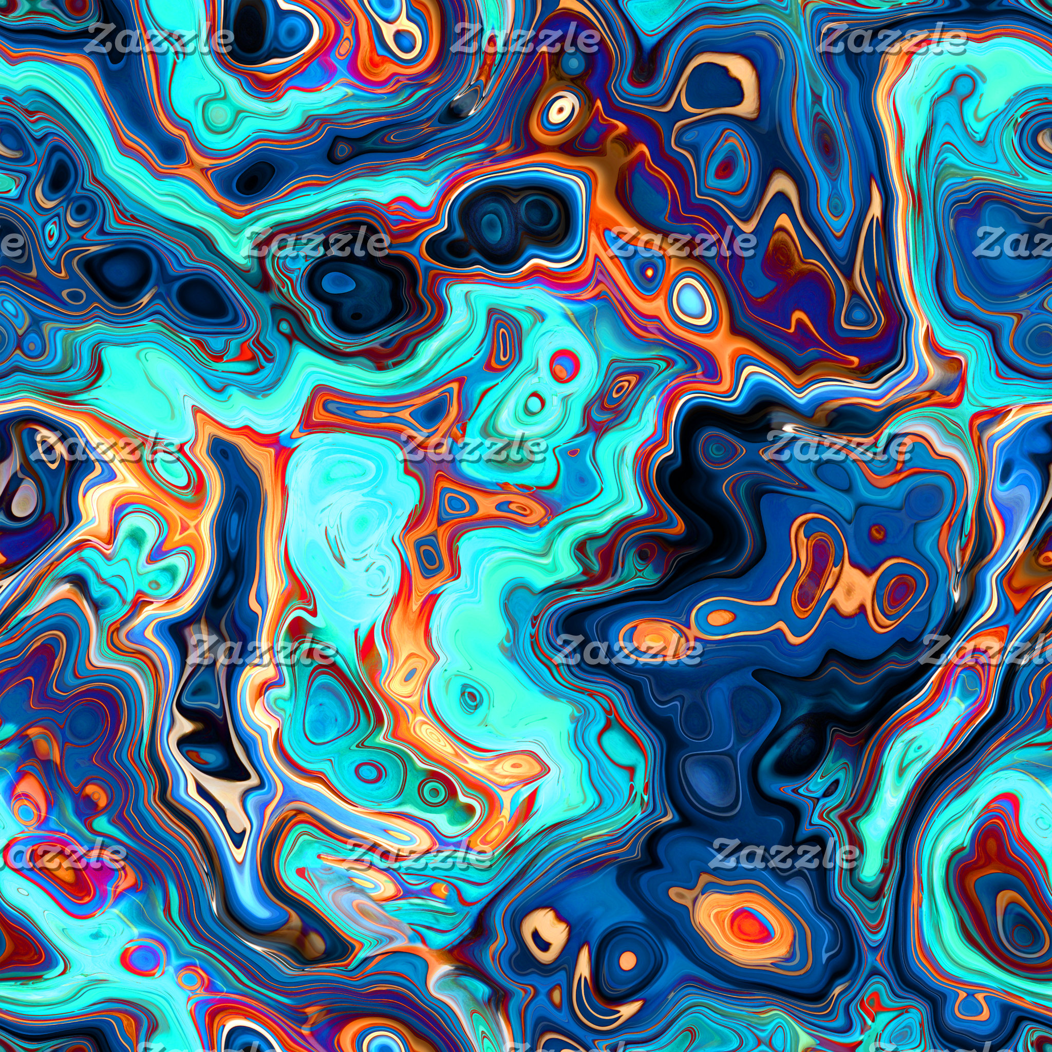 Southwest Colors Marbled Abstract
