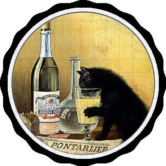 "Retro poster ""absinthe bourgeois"""