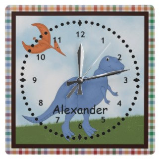 Robots Monsters Dinoaurs Kids Clocks