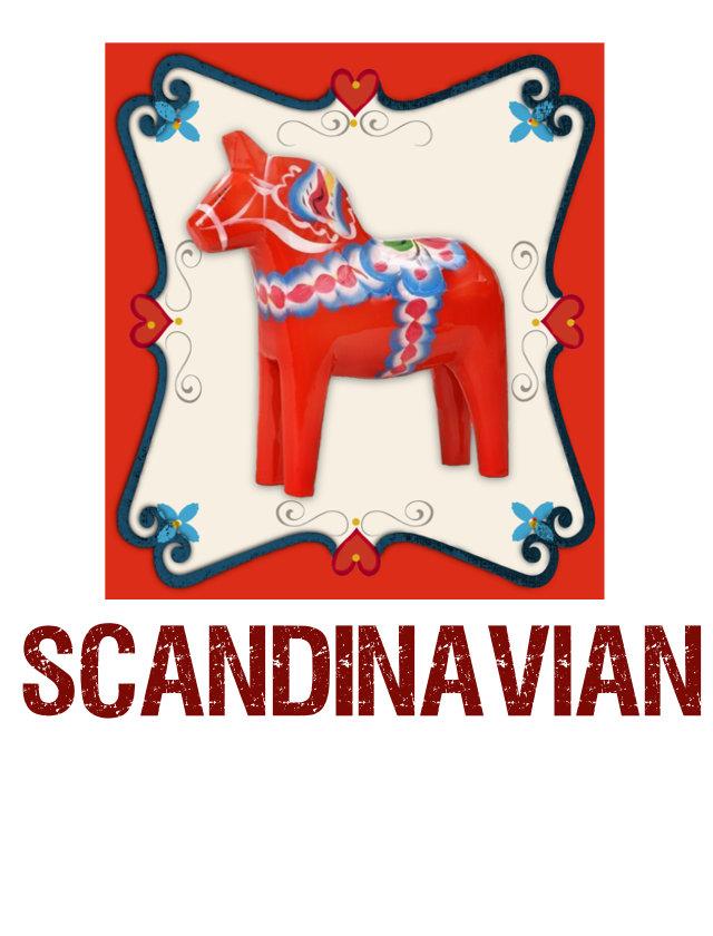 d) scandinavian