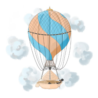 The dreamer: floating away on a vintage hot air ba