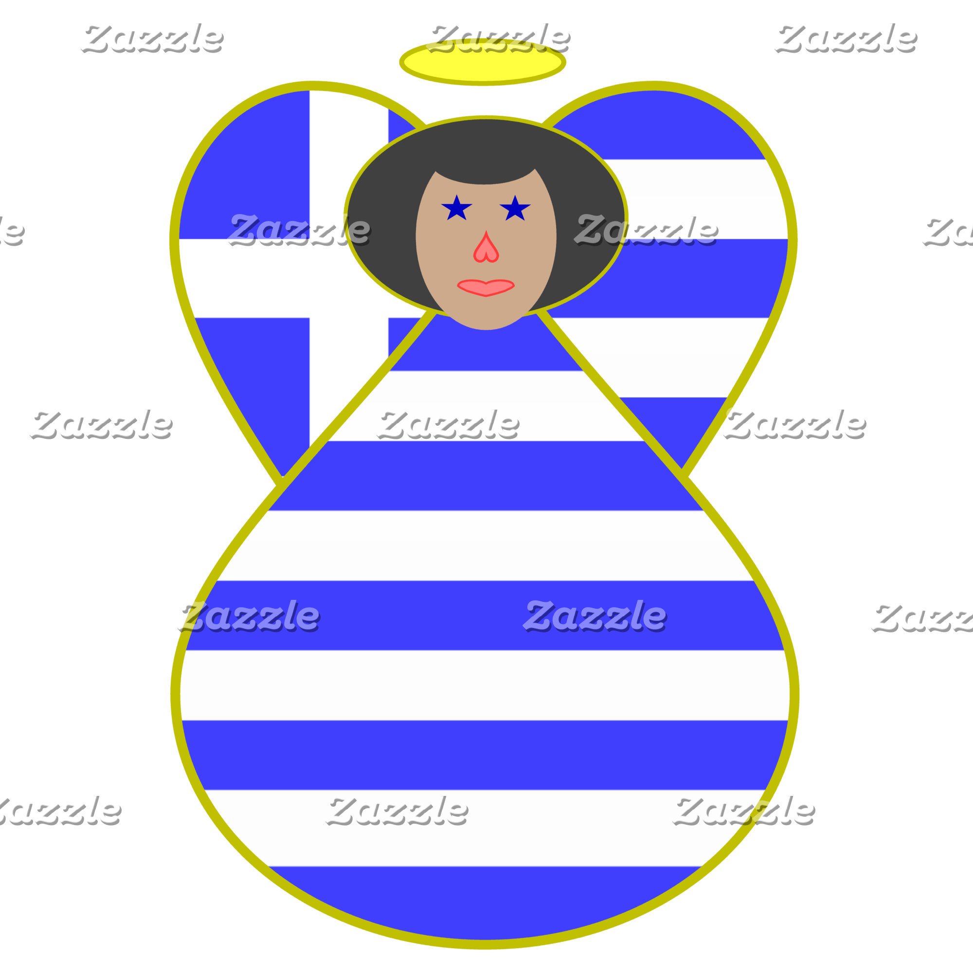 Greek Flag Angel