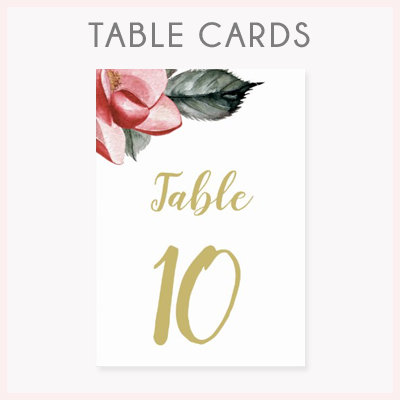 Wedding Table Cards