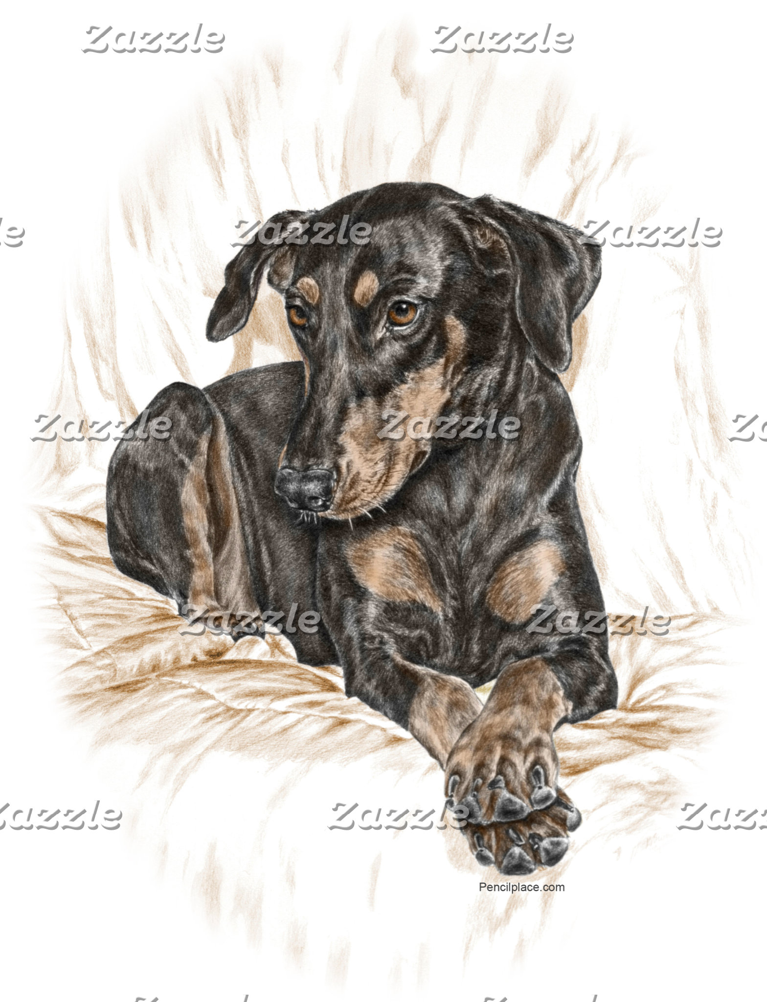 Doberman Pinscher Art