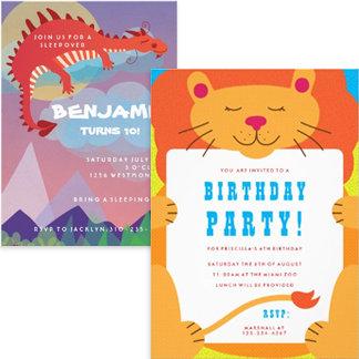 Children Birthday Invitations