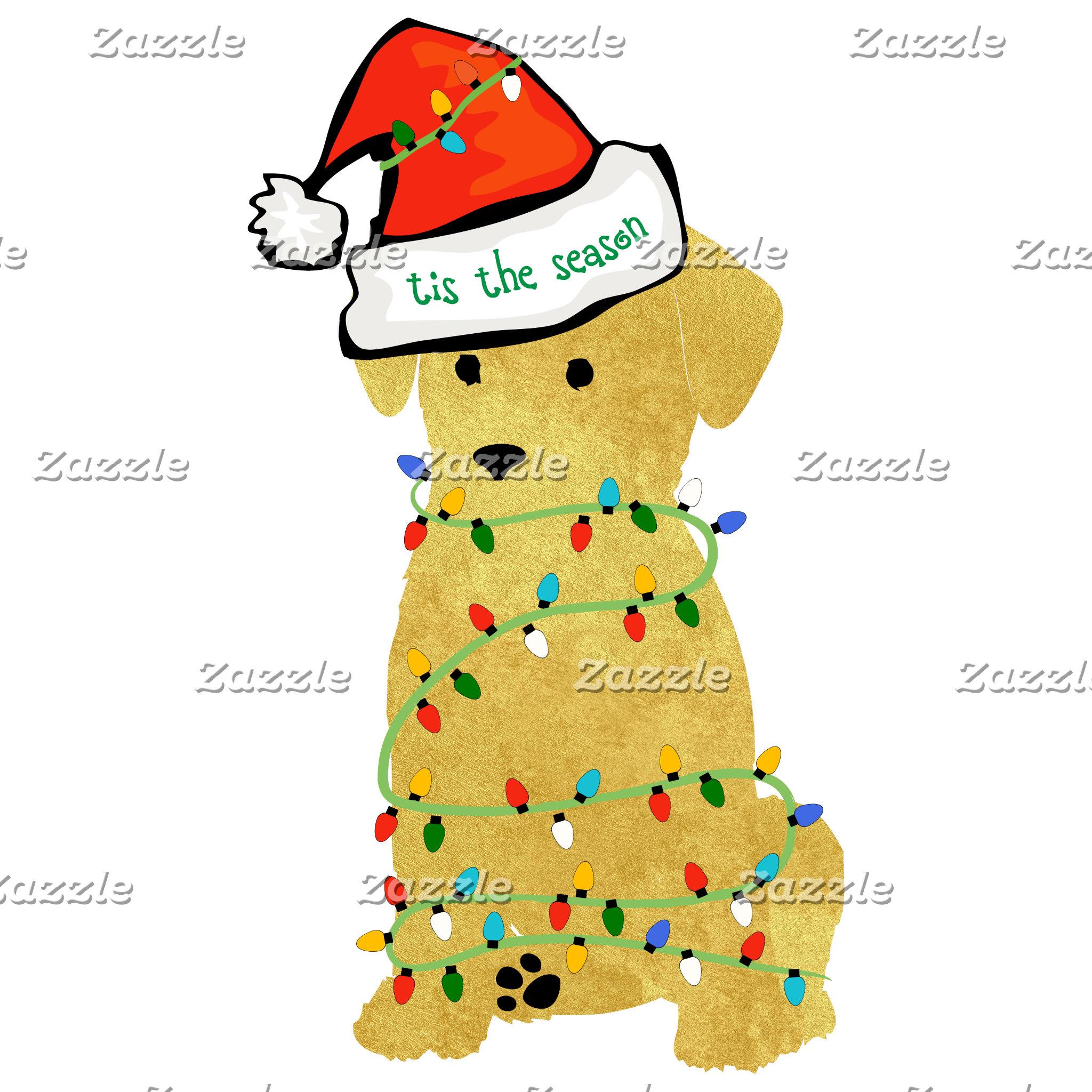 Christmas Retriever Puppy