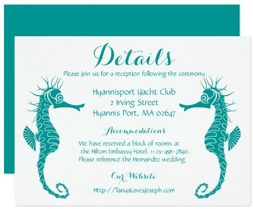 DETAILS / DIRECTIONS CARDS