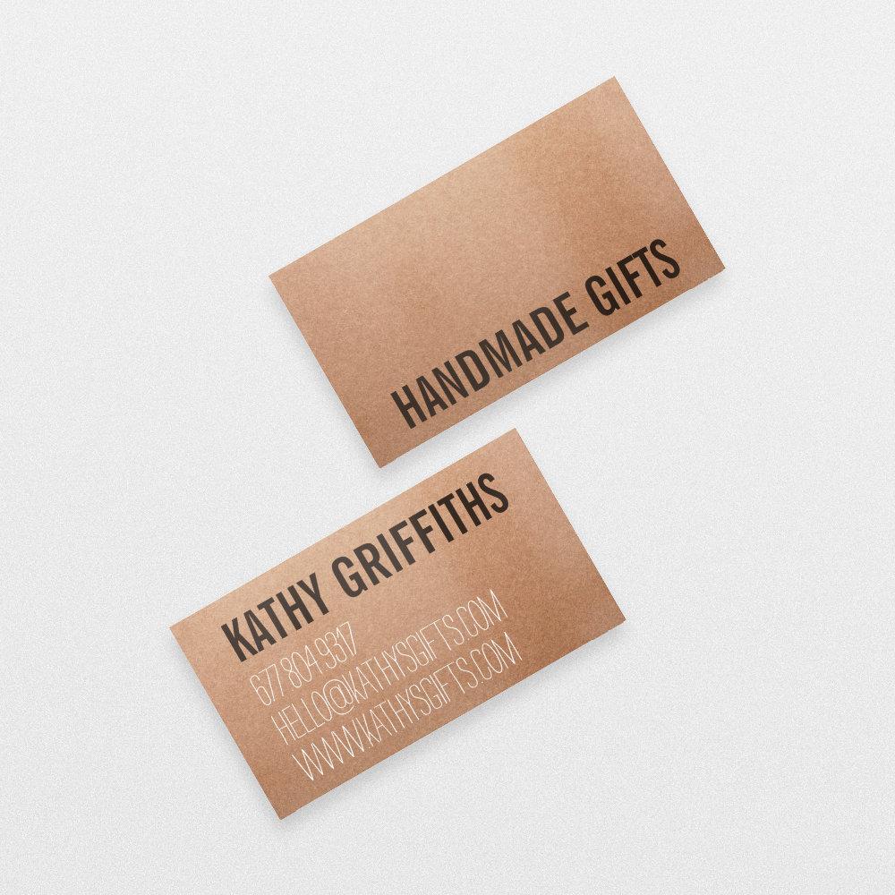 Rustic modern brown kraft paper handmade cardboard