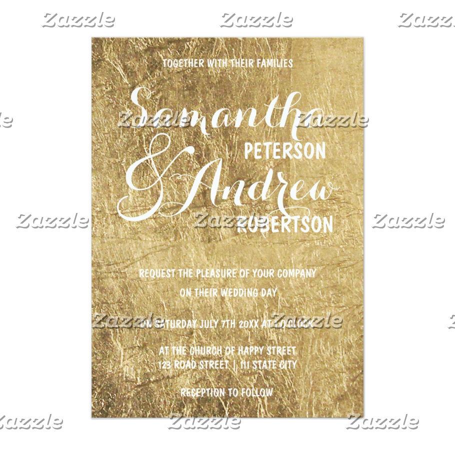 Luxury faux gold leaf wedding