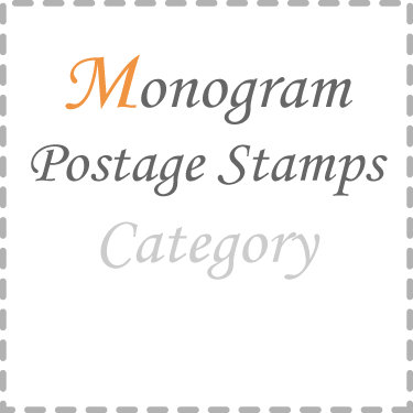 Monogram Postage Stamps