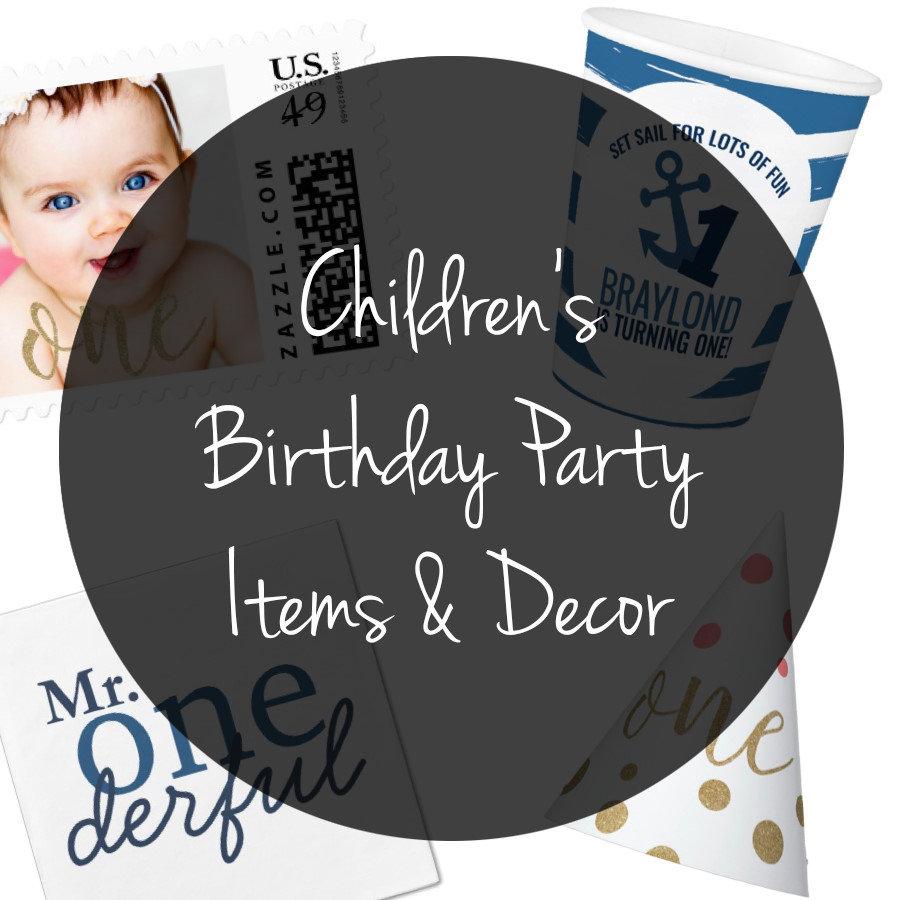 Children's Birthday Items & Decor