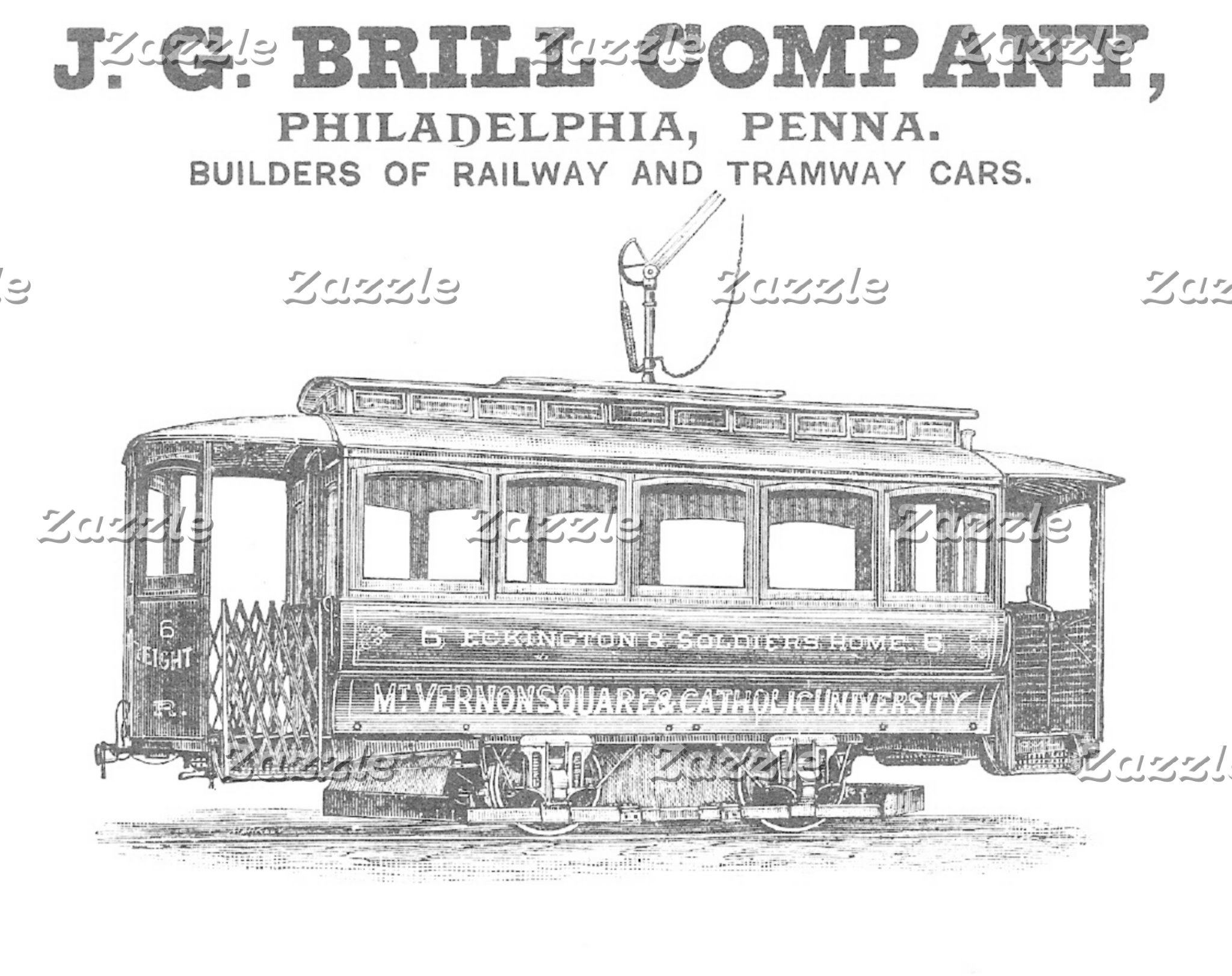 Brill Company Streetcars and Buses