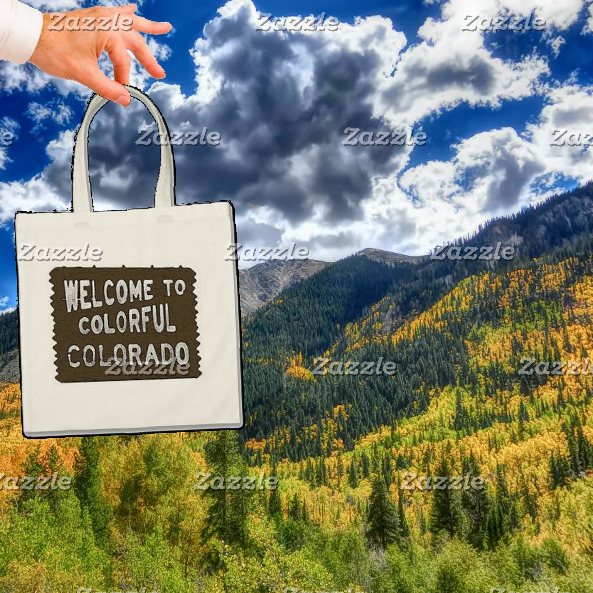 Colorful Colorado Welcome Sign