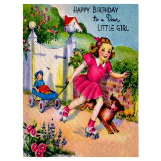 Girl Birthday Postcards