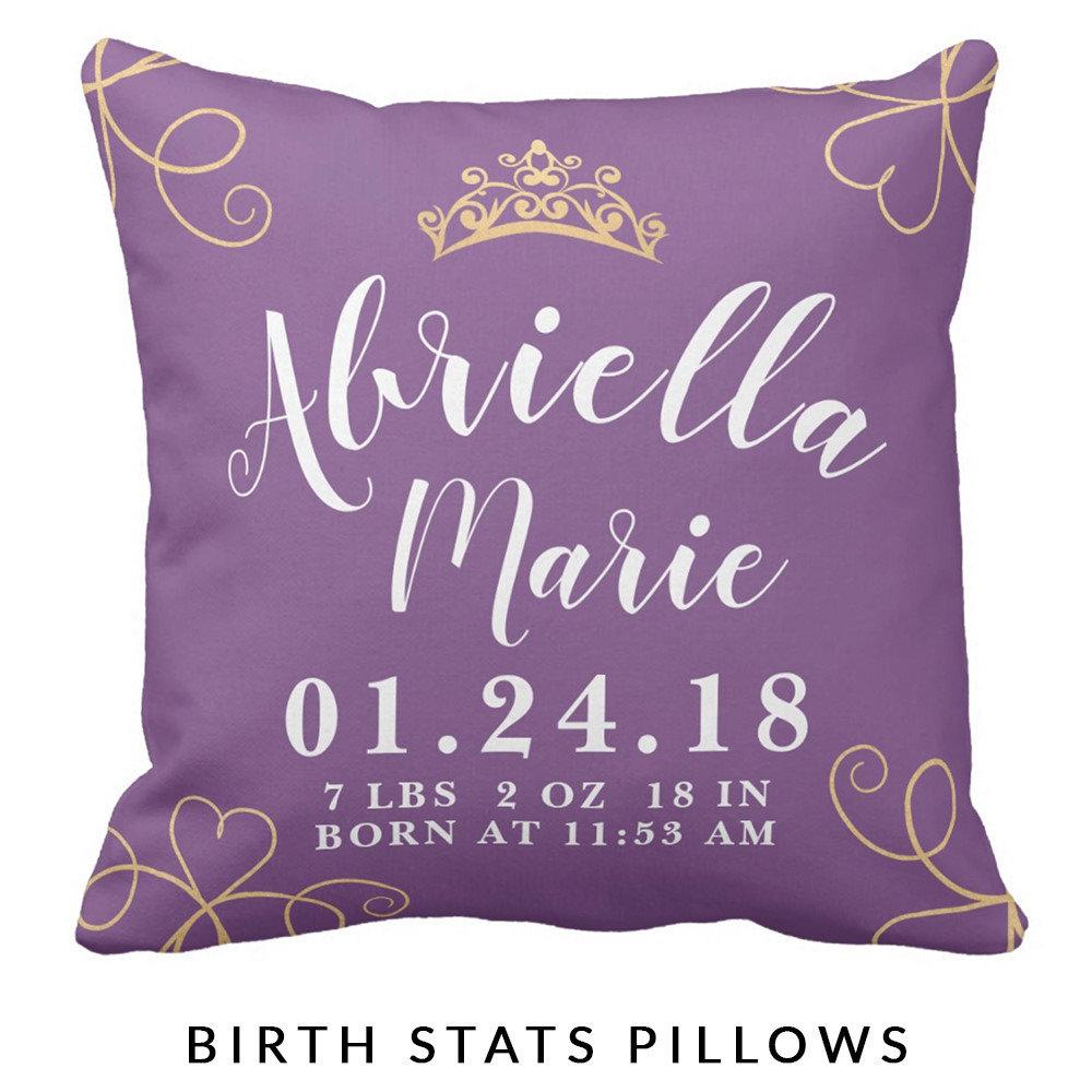 Birth Stats Pillows