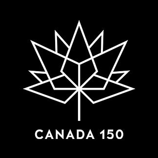 Canada 150 Black and White