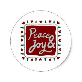 Peace & Joy Hand Lettering Holiday