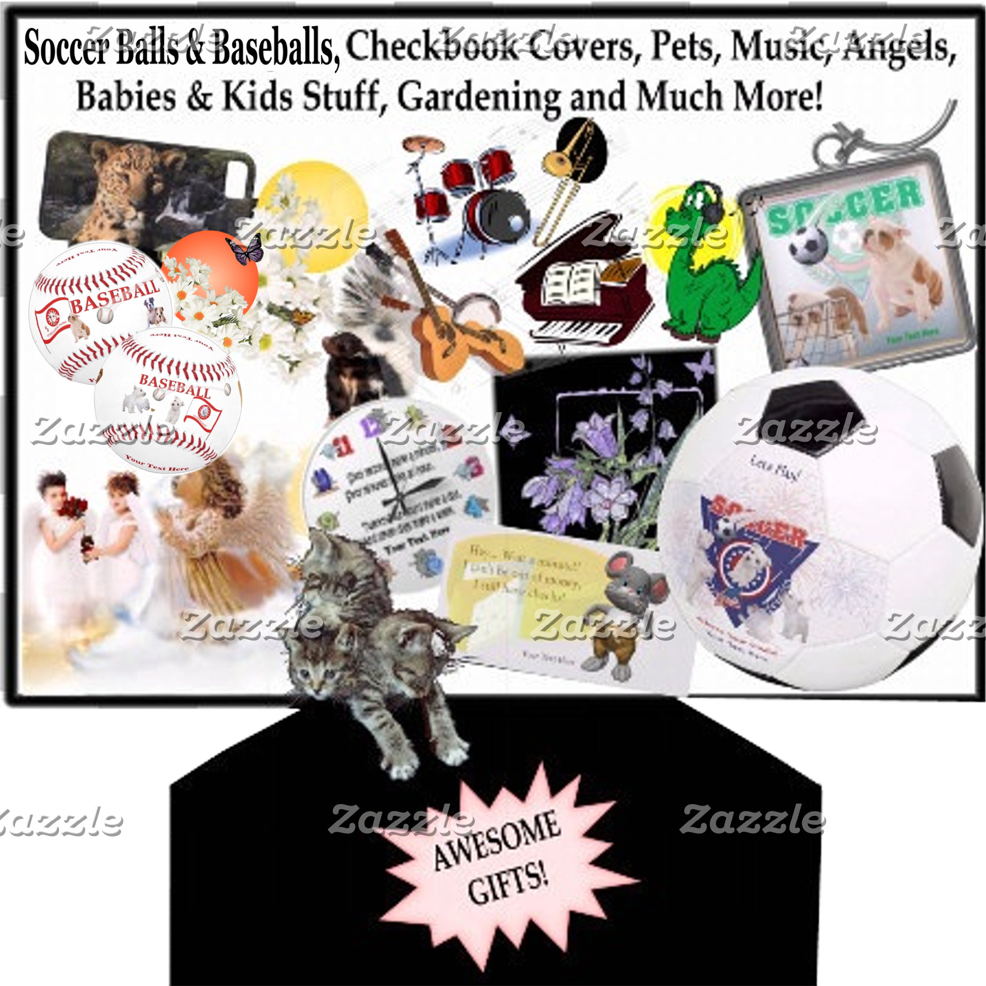 Awesome Gifts Sports, Pets, Checkbook Cover, Music