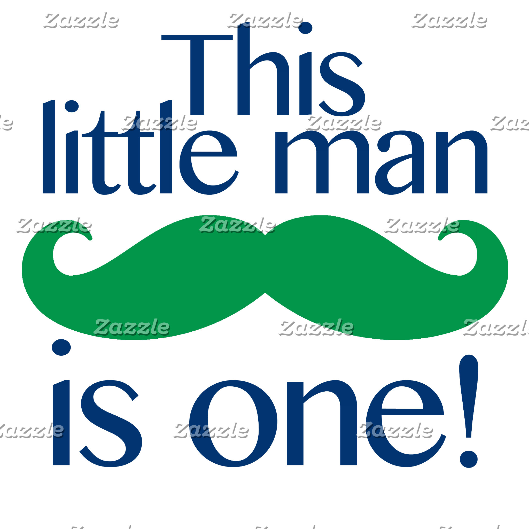 Little Man Moustache Birthday Shirts