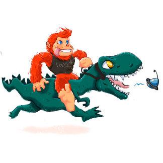 T rex bigfoot-cartoon t rex-cartoon bigfoot