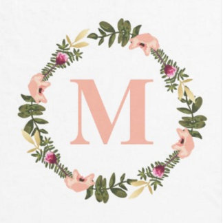 Floral Watercolor Flowers Monogram
